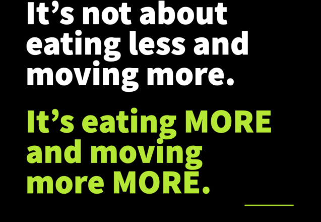 Stop Eating LESS